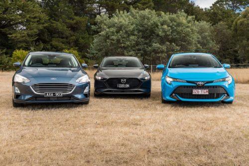 2019 Ford Focus Trend v Madza3 Evolve v Toyota Corolla SX Comparison