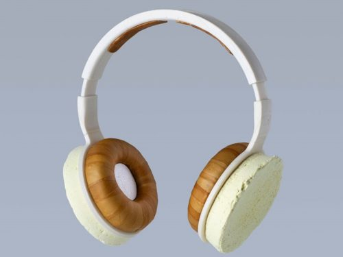These stylish headphones are made from fungus