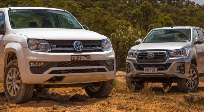2019 Toyota HiLux SR5 v Volkswagen Amarok Core V6 comparison: Off-road -- Japan v Germany: Hit the dirt!