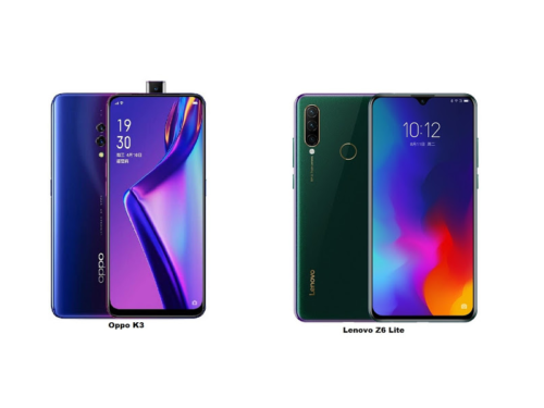 OPPO K3 vs Lenovo Z6 Youth Edition specs comparison