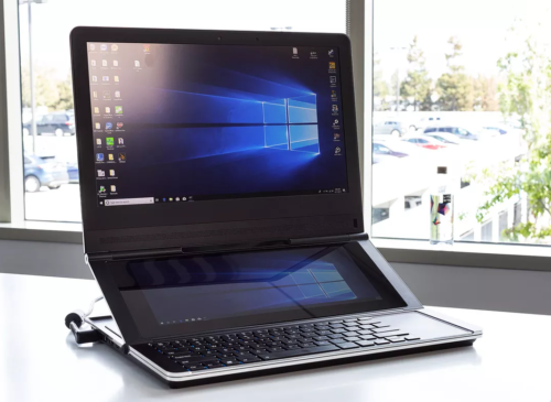Intel's Vision for the Future? A Bizarre Dual-Screen Fabric Laptop