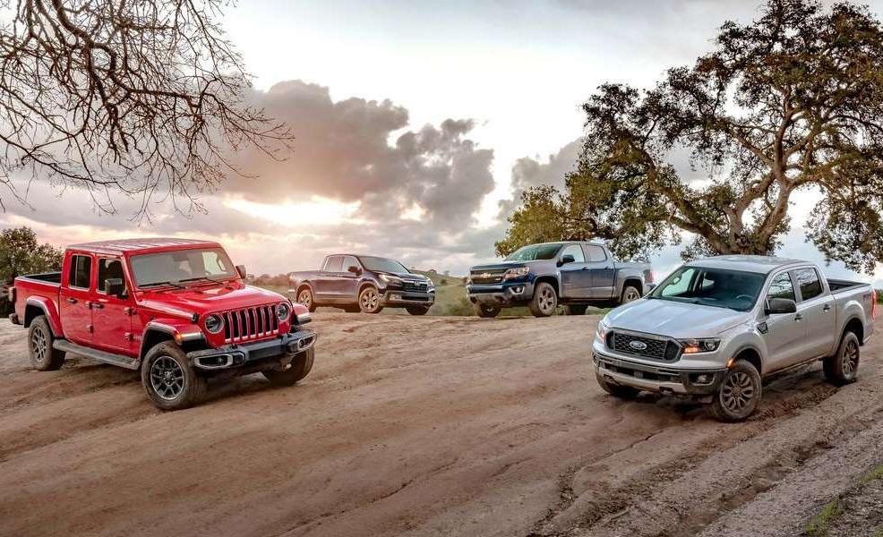2019 Ford Ranger vs. 2020 Jeep Gladiator vs. 2019 Chevrolet Colorado vs. 2019 Honda Ridgeline