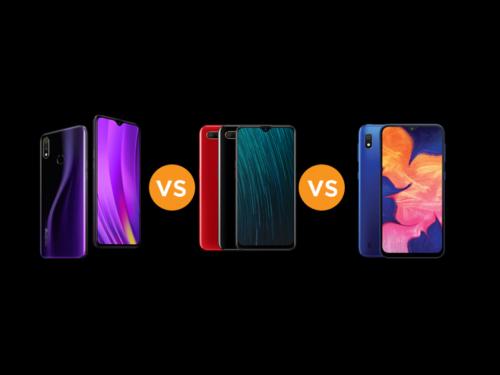 Realme 3 vs OPPO A5s vs Samsung Galaxy A10 specs comparison