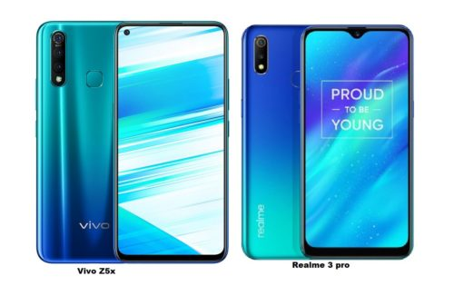 VIVO Z5x vs Realme 3 Pro specs comparison