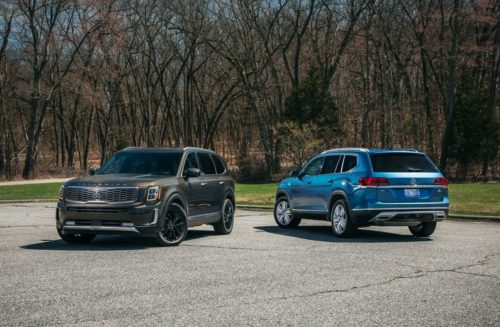 The 2020 Kia Telluride Takes on the 2019 Volkswagen Atlas: Which Three-Row SUV Stands Out?