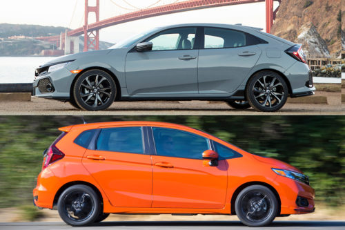2019 Honda Civic vs. 2019 Honda Fit: What's the Difference?