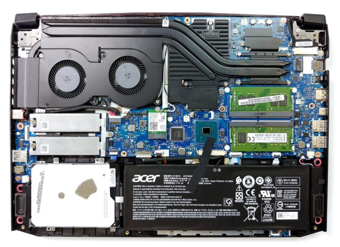 Inside Acer Nitro 5 (AN515-54) – disassembly and upgrade options