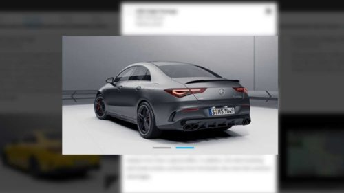 The 2020 Mercedes-AMG CLA45 Has Been Leaked . . . by Mercedes