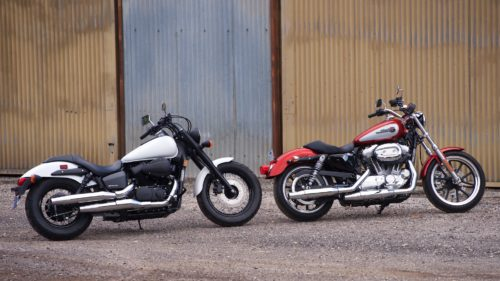 2019 Harley-Davidson Sportster Superlow vs. 2019 Honda Shadow Phantom Comparison: Two Classic Cruisers