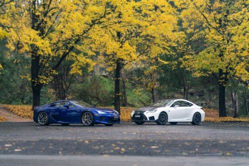 2019 Lexus RC F Track Edition v 2010 Lexus LFA Feature Comparison