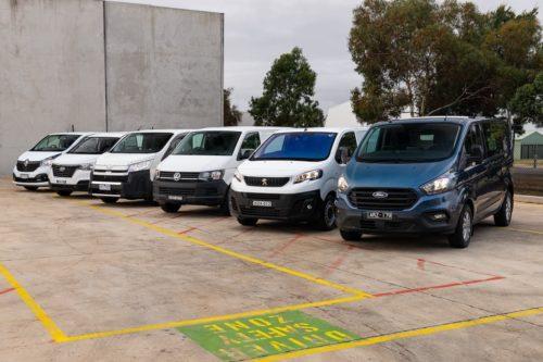 2019 Carsales Best Commercial Van Comparison- Ford Transit Custom v Hyundai iLoad v Peugeot Expert v Renault Trafic v Toyota HiAce v Volkswagen Transporter