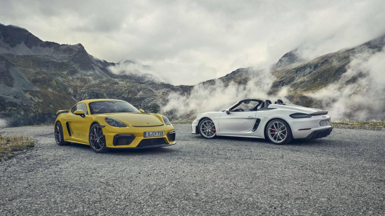2020 Porsche 718 Cayman GT4 and 718 Spyder flaunt 4.0 flat-six