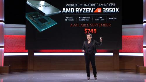 AMD announces new 3rd gen Ryzen 9 3950X 16-core gaming CPU at E3 2019