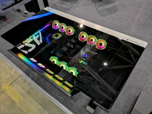 AZZA's E-Sports Table is a $2k glass desk you can build a PC in