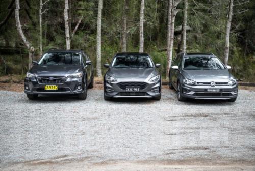 2019 Ford Focus Active v Subaru XV v Volkswagen Golf Alltrack comparison – High hopes: Jacked-up small cars