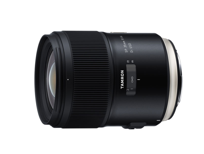 Tamron is pulling out all the stops for its SP 35mm f/1.4 Di USD full-frame DSLR standard prime lens