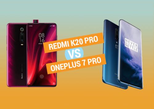 Redmi K20 Pro vs OnePlus 7 Pro specs comparison