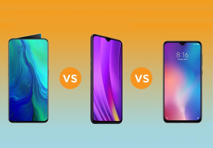 OPPO Reno vs Realme 3 Pro vs Xiaomi Mi 9 SE: Which one to get?