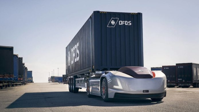 Volvo's autonomous trucks just picked up their first real-world job
