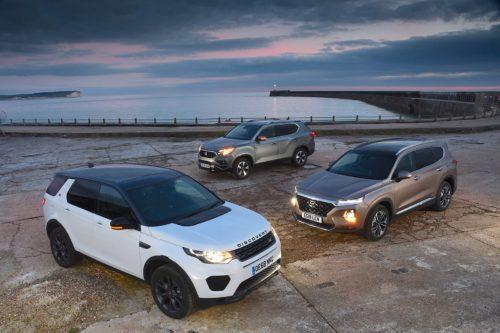 Hyundai Santa Fe vs Land Rover Discovery Sport vs Ssangyong Rexton Comparison