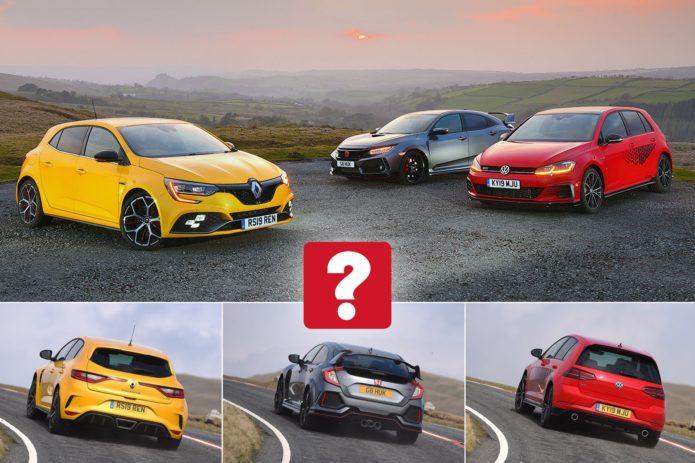 New Renault Megane RS Trophy & Volkswagen Golf GTI TCR vs Honda Civic Type R Comparison