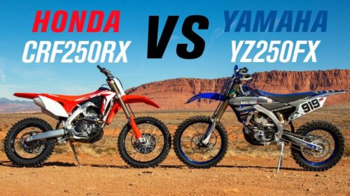 A Tale Of Two Enduros: 2019 Honda CRF250RX Vs 2019 Yamaha YZ250FX