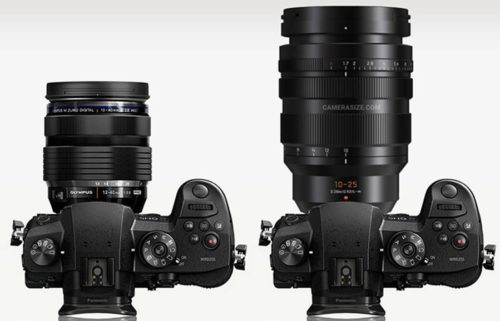 Size Comparison – Panasonic 10-25mm vs Olympus 12-40mm