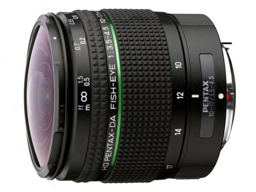 HD Pentax-DA Fisheye 10-17mm f/3.5-4.5 ED Lens Announced