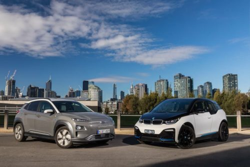 2019 BMW i3s v Hyundai Kona Electric Highlander Comparison