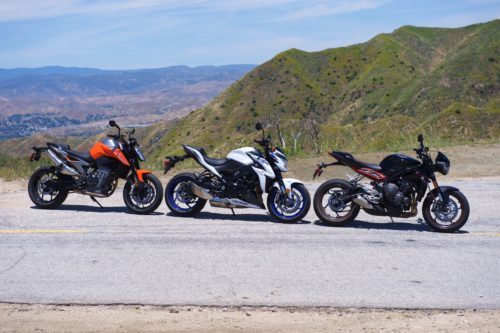 $11k Sportbike Comparison: KTM vs. Suzuki vs. Triumph
