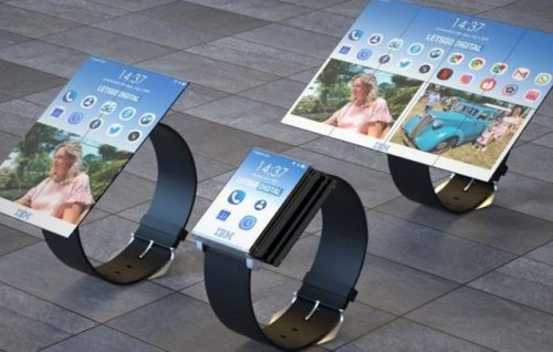 IBM's wearable design looks like the Apple Watch and Galaxy Fold's baby
