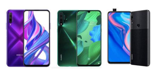 Honor 9X Pro vs Huawei P Smart Z vs Huawei Nova 5: Specs Comparison