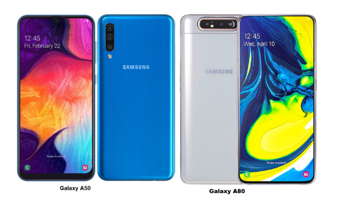 Galaxy A50 vs Galaxy A80