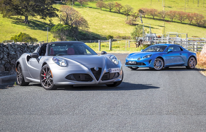 2019 Alpine A110 v Alfa Romeo 4C Spider comparison