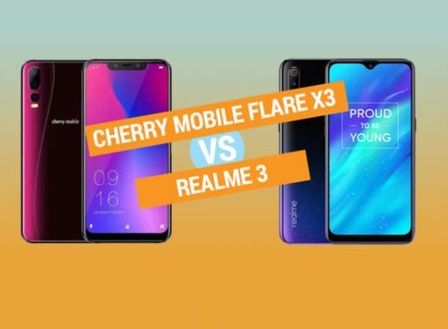 Cherry Mobile Flare X3 vs Realme 3 specs comparison