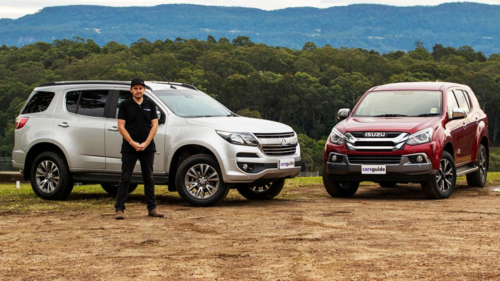 2019 Isuzu MU-X LS-U vs 2019 Holden Trailblazer LTZ towing comparison review