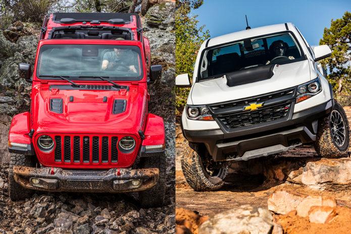 2020 Jeep Gladiator Rubicon vs. 2019 Chevrolet Colorado ZR2