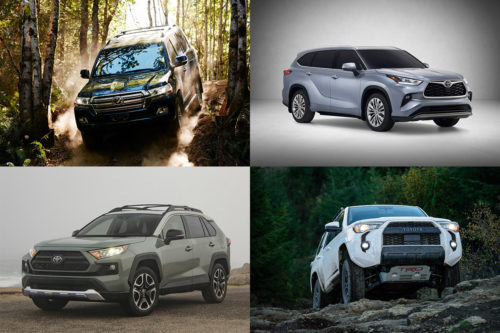 6 Toyota SUVs for a Variety of Needs in 2019