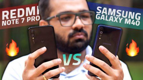 Redmi Note 7 Pro vs Samsung Galaxy M40: Camera, Battery Life, Performance Comparison