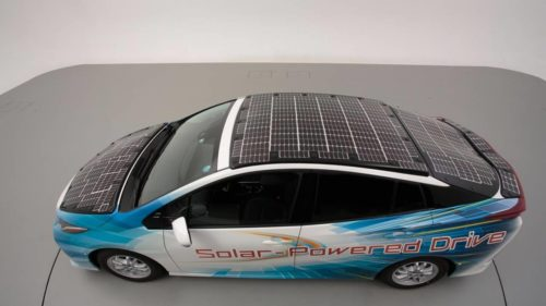 Toyota, NEDO, and Sharp are testing solar battery EVs