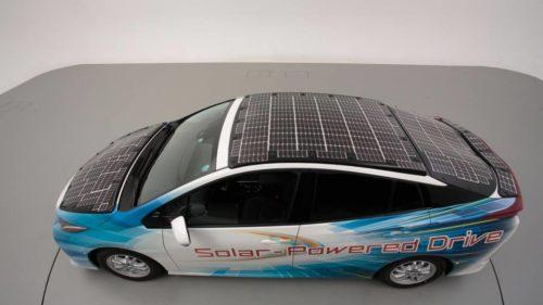 Toyota, NEDO, and Sharp are testing solar battery EVs