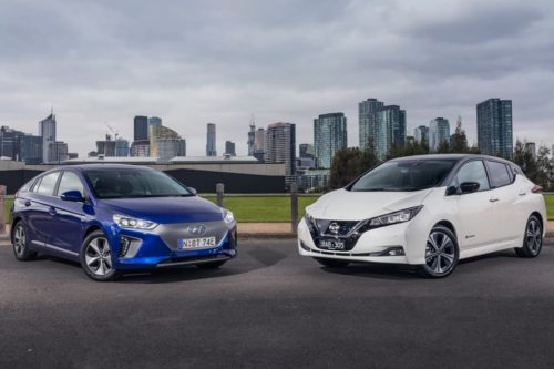 2019 Hyundai IONIQ Electric Premium v Nissan LEAF  Comparison
