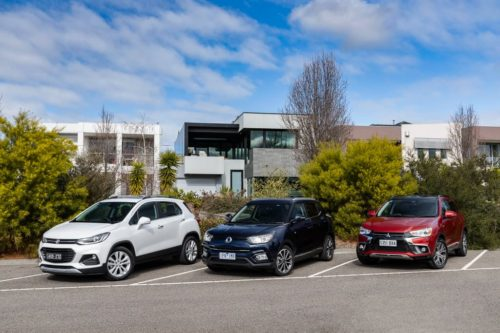 2019 Holden Trax LTZ v Mitsubishi ASX Exceed v SsangYong Tivoli Ultimate – Comparison