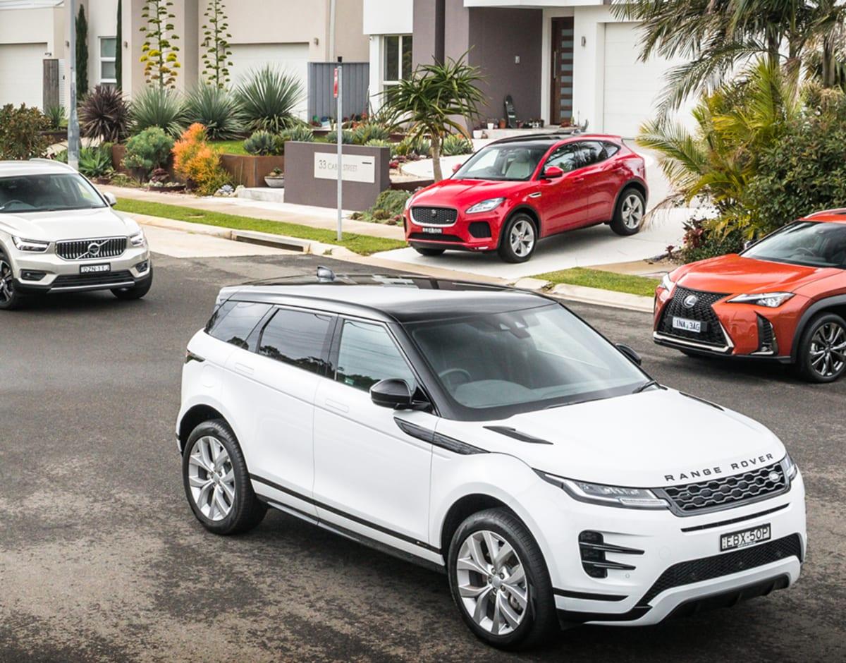 2019 Range Rover Evoque v Jaguar E-Pace v Lexus UX v Volvo XC40 comparison : Designer SUVs