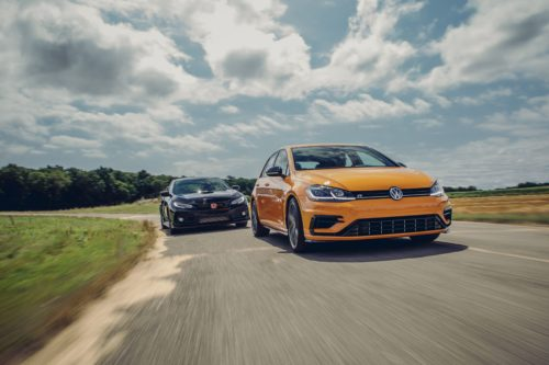 2019 Honda Civic Type R vs. 2019 Volkswagen Golf R: One of These Is the Best Hot-Hatch in America