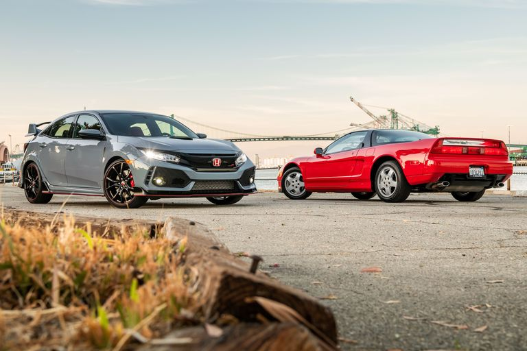 2019 Honda Civic Type R vs. 1991 Acura NSX: A Supercar Legend Confronts Honda's Turbo Hot Hatch