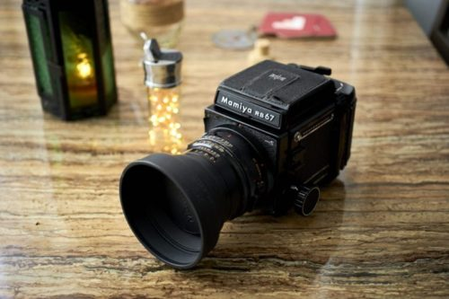 Shooting with a Mamiya RB67 Paired with a Godox AD 200 Flash