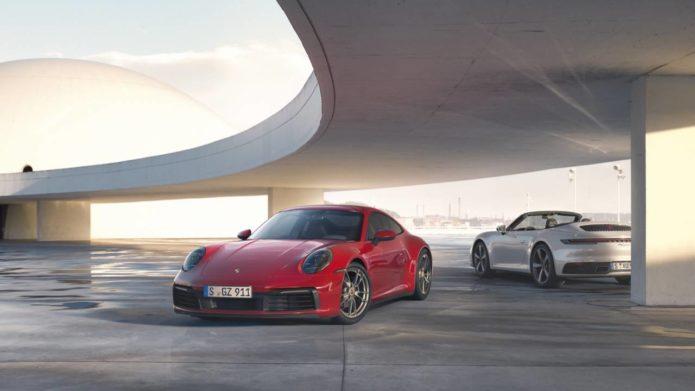 2020 Porsche 911 Carrera 4 Coupe and Cabriolet add all-wheel drive