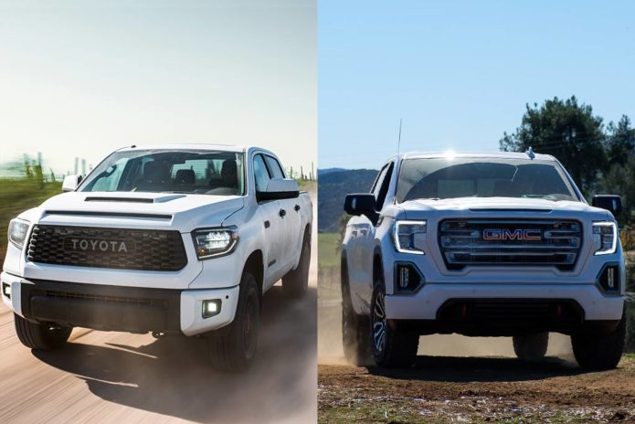 2020 Toyota Tundra TRD Pro vs. 2020 GMC Sierra AT4