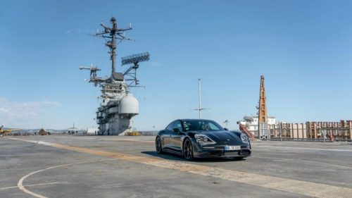 This new Porsche Taycan speed test may not be practical but it sure is cool